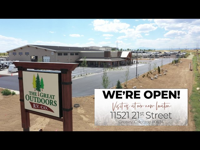We are OPEN! Come check us out at 11521 21st street in Greeley Colorado! RV Dealership