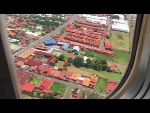 Landing at Juan Santamaría Airport, Costa Rica.