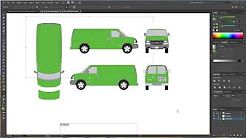 Getting started with vector vehicle wrap template and design Adobe Illustrator