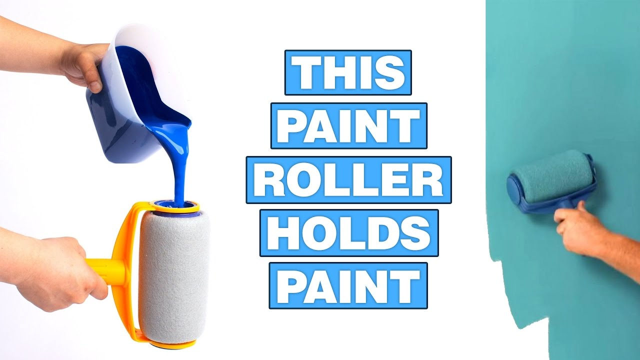 Paint Runner: A Non-Drip Paint Roller That Stores Paint - YouTube