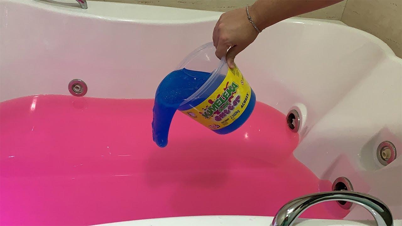 Roblox Banheira De Slime - Joguei Um Balde De Slime De 25 Kg Dentro Da Banheira De Gel Rosa Ficou Incrível