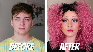 GUY REACTS TO FULL DRAG FOR A DAY! *INSANE TRANSFORMATION*