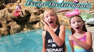 Escape the LifeGuard!!! LifeGuard Controls Our Pool for 24 Hours!