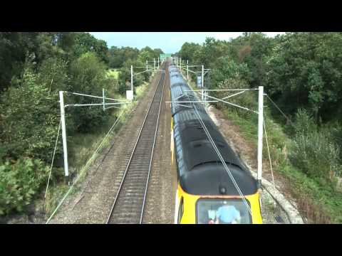 43013 & 43014 1Q37 Heaton - Crewe CS @ Acton Grange Junction 17/09/12