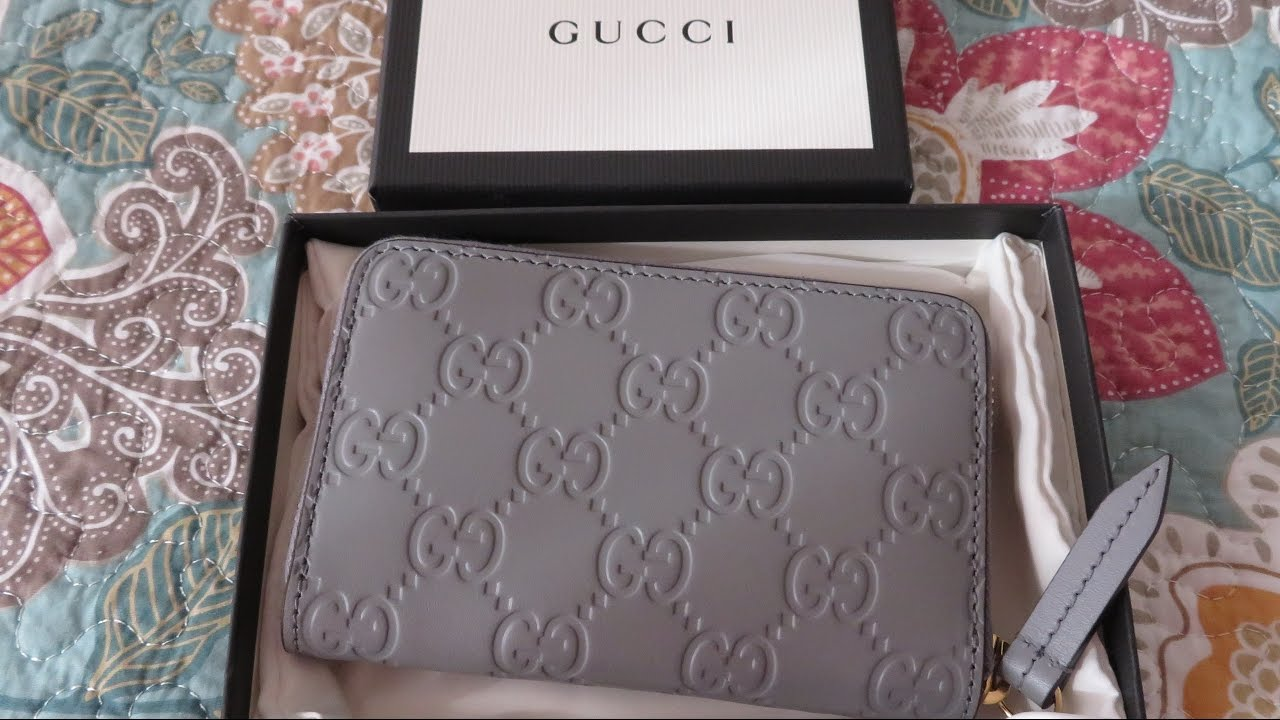 5c7c94316541 New Gucci zippy card case /What fits - Sky Fashion - YouTube
