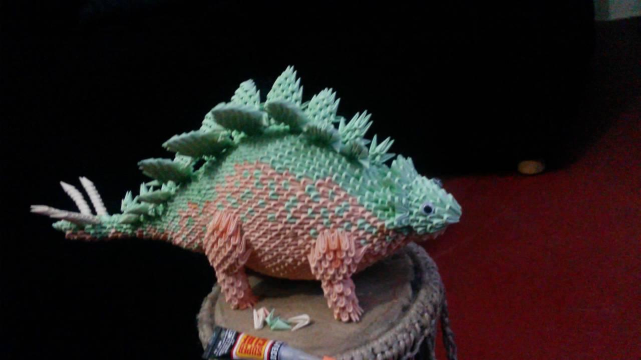 3D Origami Dinosaur By Yuliya Varbanova