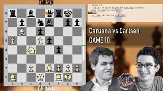 Caruana vs Carlsen - Live Stream - Live - Game 10