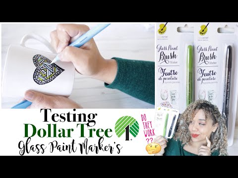 Dollar Tree Glass Paint Markers Mug DIY | Do they Work?