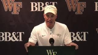 Postgame Press Conference - Dave Clawson vs. Clemson