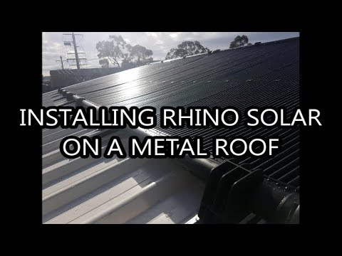 Installing Rhino Solar on a Metal Roof
