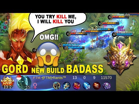 Sakit Banget !! Build Gord Bikin Lawan Takut - New Build Gord Legendary kill - Mobile Legends