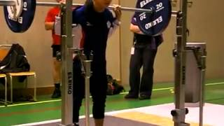 Raw squat 110 kg x 8 reps (@46 kg) Chen Wei-Ling IPF World Classic Cup winner
