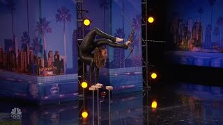 America's Got Talent 2016 Sophi Dossi 14 Y.O. Hand Balancing Contortionist Full Audition Clip S11E5