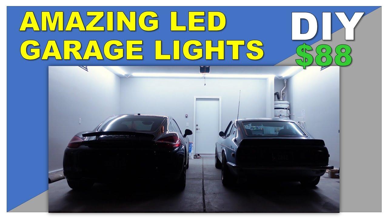 Download BEST GARAGE LED LIGHTS WOW   BARRINA LED T5 6500K   How to install LED lights in your 2 car garage