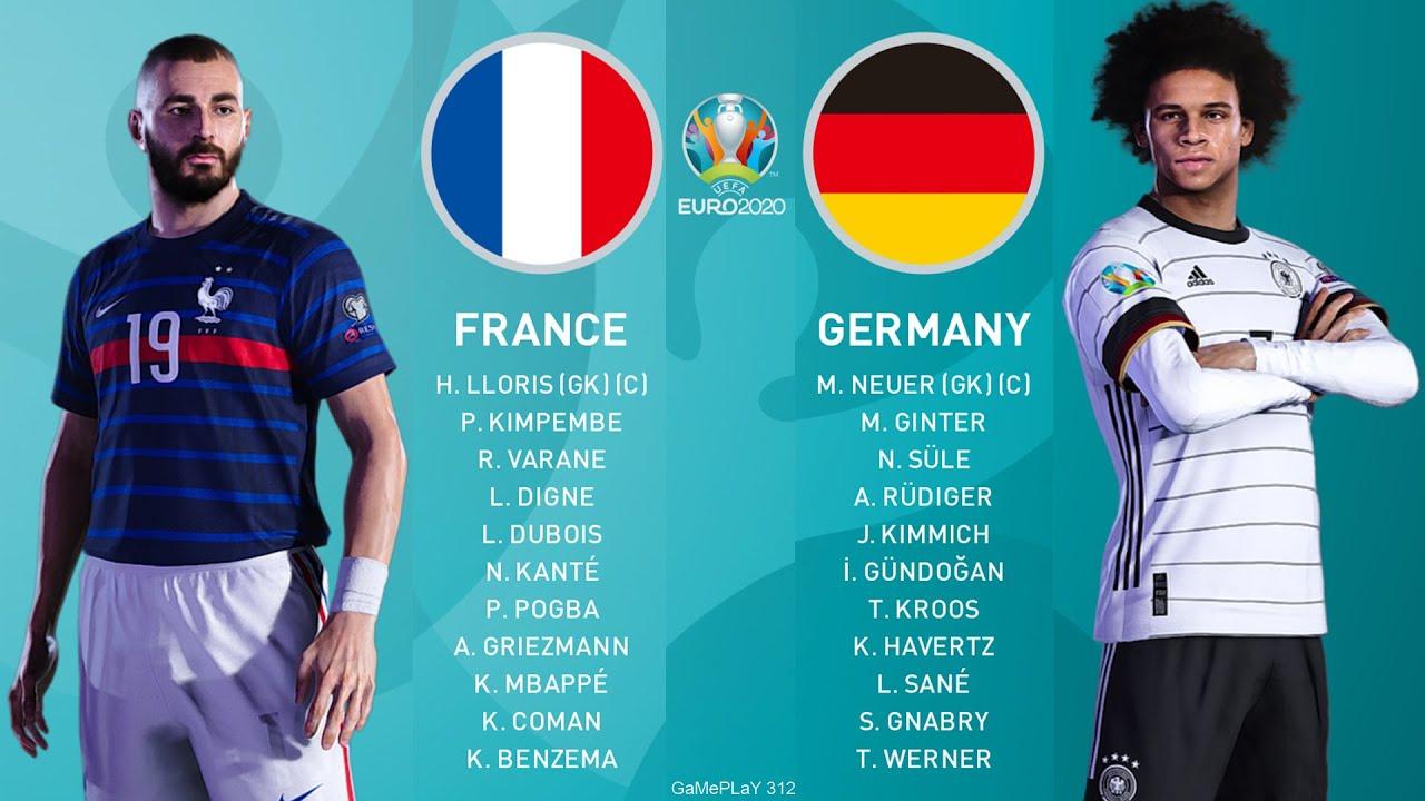 PES 2021 - France vs Germany - UEFA EURO 2020 - Full Match & Goals - Benzema, N.Kante vs Germany