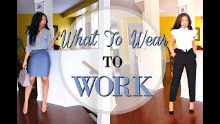 HOW TO LOOK STYLISH AT WORK  | 5 OUTFIT IDEAS FOR WORK - OFFICE ATTIRE LOOKBOOK + How to Style