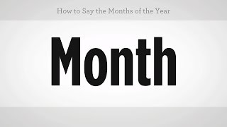 How to Say the Months of the Year | Mandarin Chinese