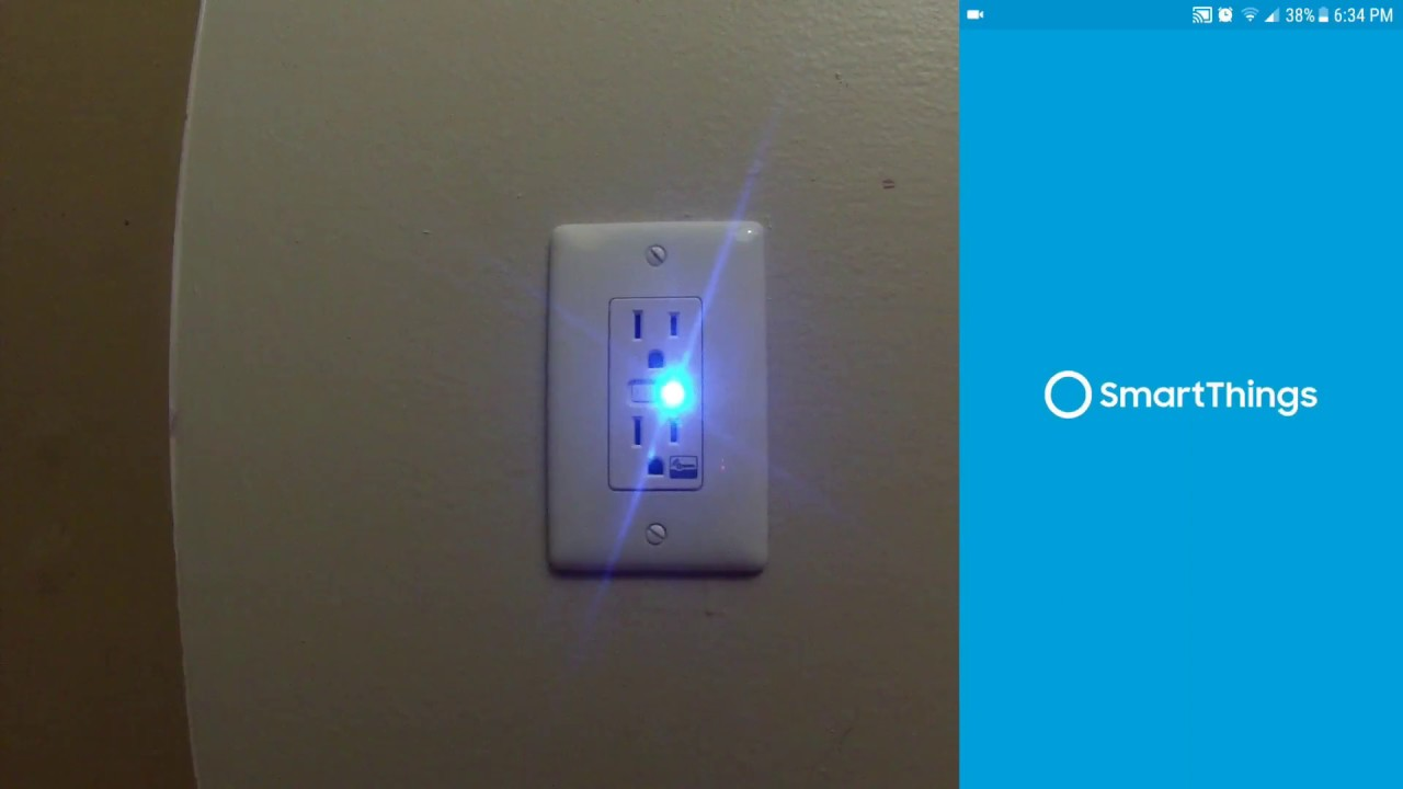 Install a Z-Wave Smart Electrical Outlet and SmartThings setup in ...