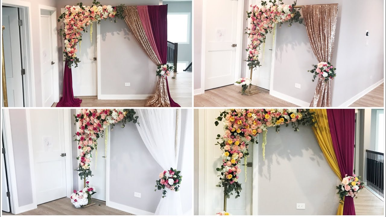 DIY - Unboxing Readymade Floral Swag Arch & Tall Tree Centerpiece Diy- wedding Decor