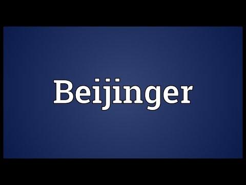 Beijinger Meaning
