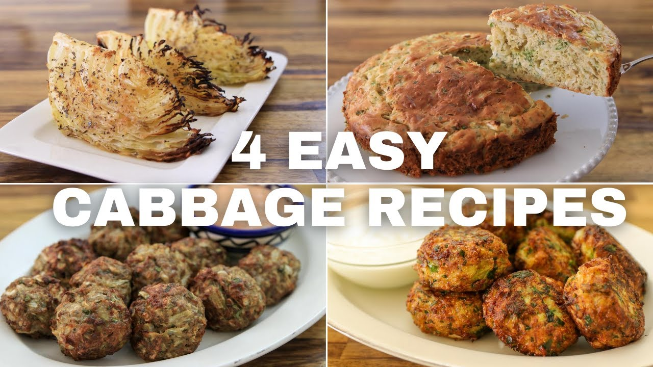 4 Easy Cabbage Recipes Youtube