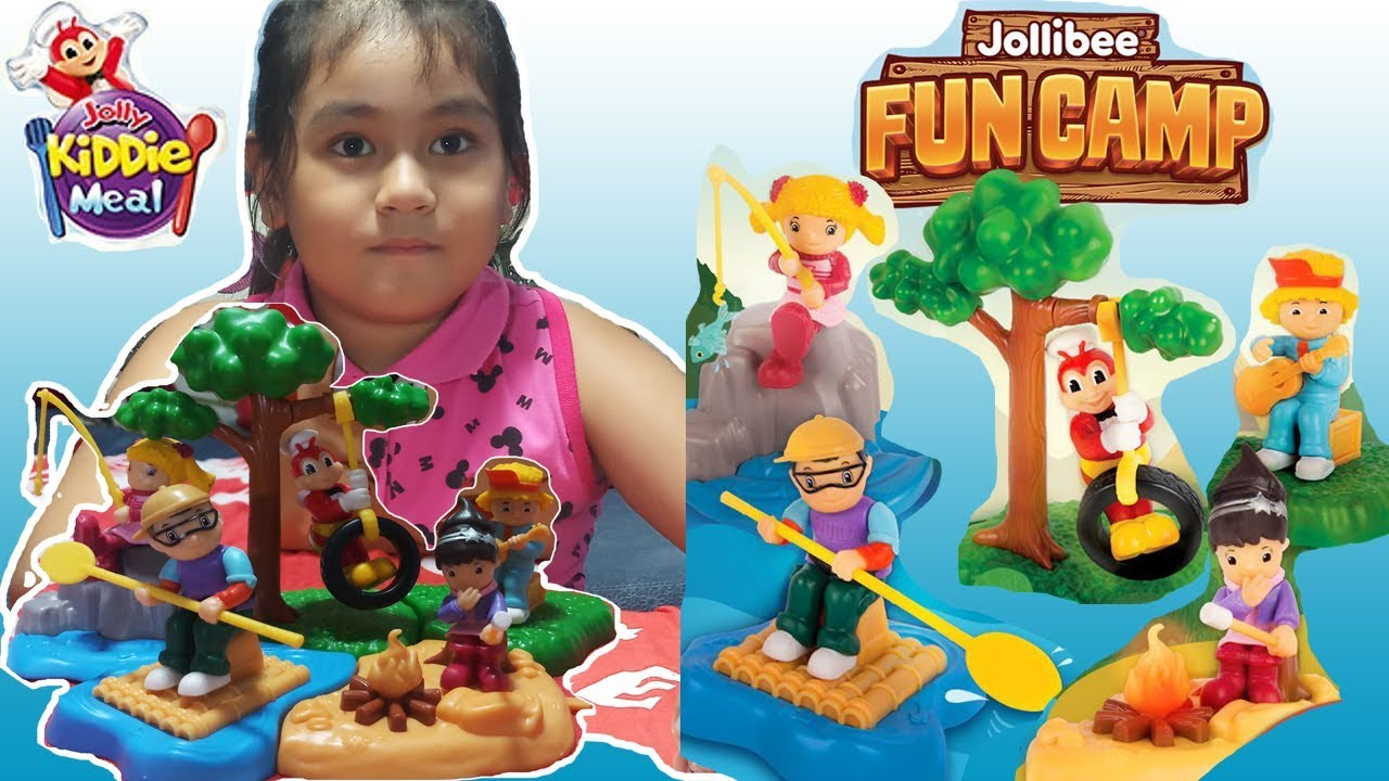 June 2019 Jollibee Kiddie Meal Toys Fun Camp Complete