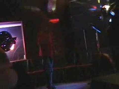 Rob singing Karaoke