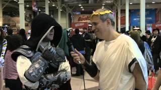 Peter Lerangis Interviews Comic Con Visitors about the Seven Wonders