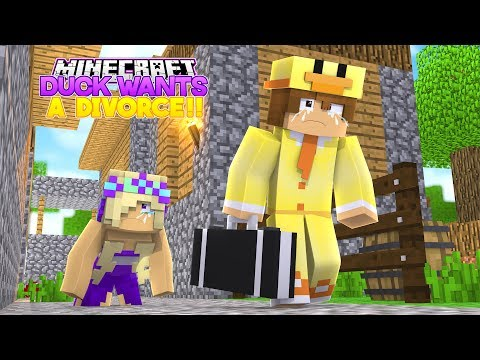 DUCK WANTS A DIVORCE- HE LEFT ME FOR HIS EX GIRLFRIEND!! Into The Future- Baby Leah MINECRAFT