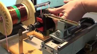 DIY auto bobbin coils winding process showtime