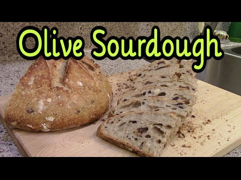 Sourdough Bread ~ White Loaf with Kalamata Olives