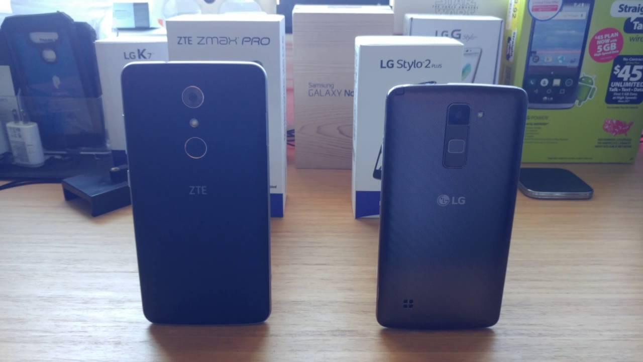 ZTE Zmax Pro and LG Stylo 2 Plus Fingerprint Sensor comparison