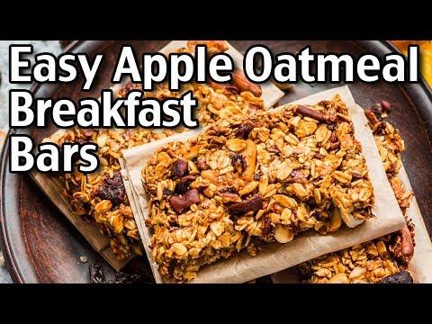How To Make Apple Oatmeal Breakfast Bars! Easy Apple Oatmeal Bars Recipe