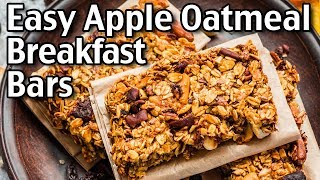 How To Make Apple Oatmeal Breakfast Bars! Easy Apple Oatmeal Bars Recipe