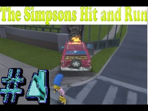 Let's Play The Simpons Hit and Run (PS2) - Level 4 - 100% (HD)