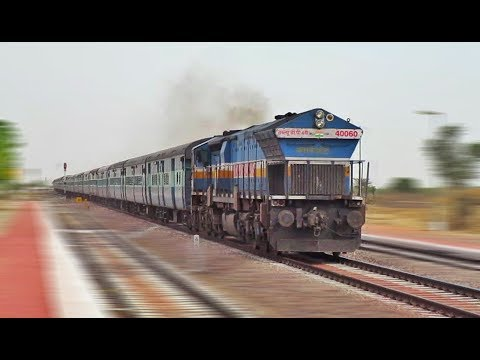 Super Aggressive EMD with 22472 DEE - BKN Superfast Express | Indian Railways