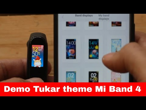 Demo tukar theme Mi band 4