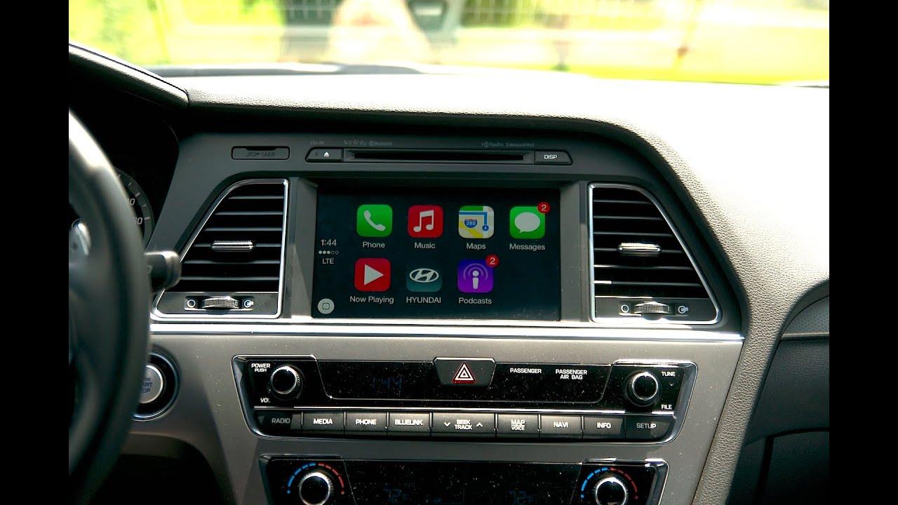 Apple Car Play Demo In The 2015 Hyundai Sonata - YouTube