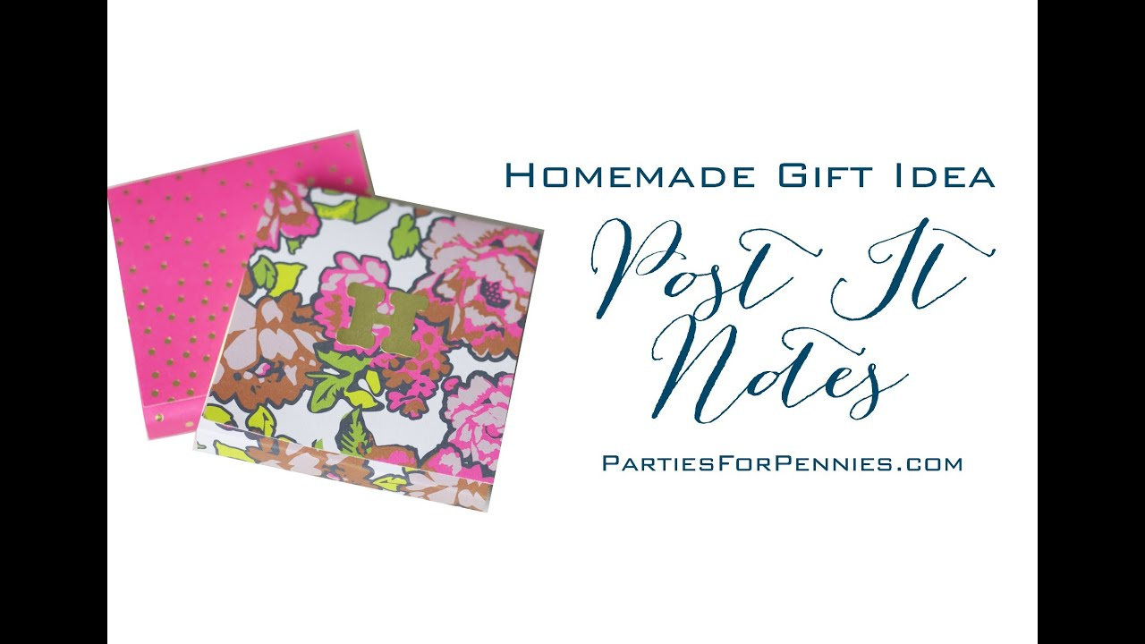 Homemade Gift Idea: Personalized Post-It Notes - YouTube