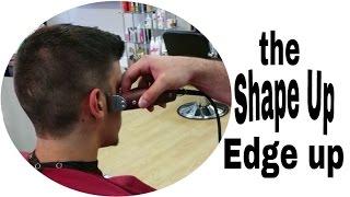shaping up a Haircut - edging a faux hawk