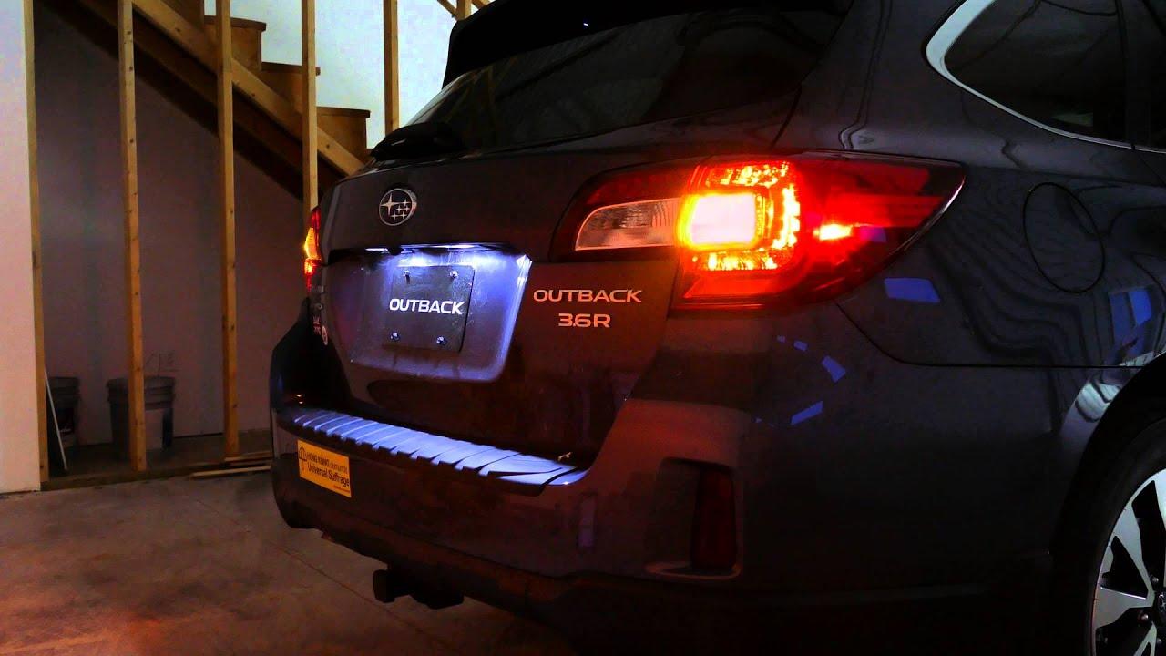 2016 Subaru Outback Limited Led Tail Lights Youtube