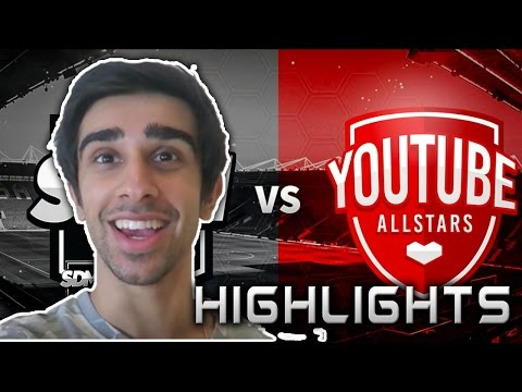Vikkstar123(Vik) vs YouTube All Stars(Highlights) II Charity Match II Player Highlights