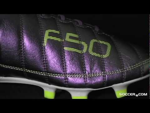 adidas F50 adizero FG (Leather) - Chameleon Purple/White/Electricity Firm Ground Soccer Shoes