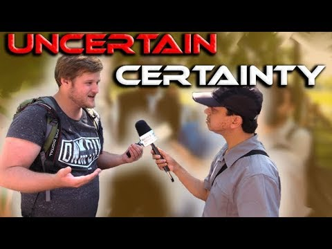 Speakers Corner !! Br Mansur speaks with Subjective Atheist Student (Uncertain Certainty)