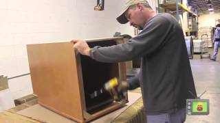 How To Assemble Base Cabinet W/ Wood I-beam & Corner Brackets