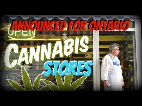 Cannabis Stores Announced for Ontario