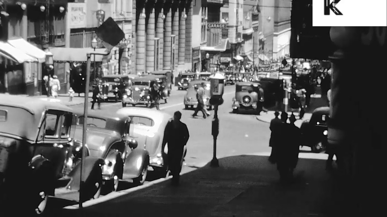 1920s/ 1930s San Francisco, Streets, Transport, Archive Footage