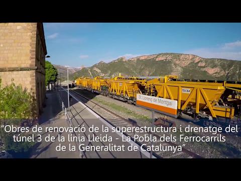 Obres de renovació de la superestructura i drenatge del túnel 3 de la línia Lleida