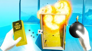 I BLEW UP A SAFE and STOLE ALL THE GOLD in Disassembly VR!