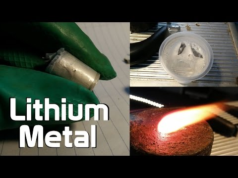 Playing With Lithium metal - Water + Fire Reactions